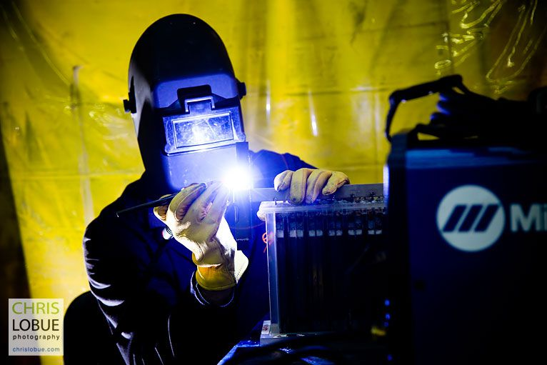 Commercial tig welder photography  - Chris Lo Bue Industrial Photography
