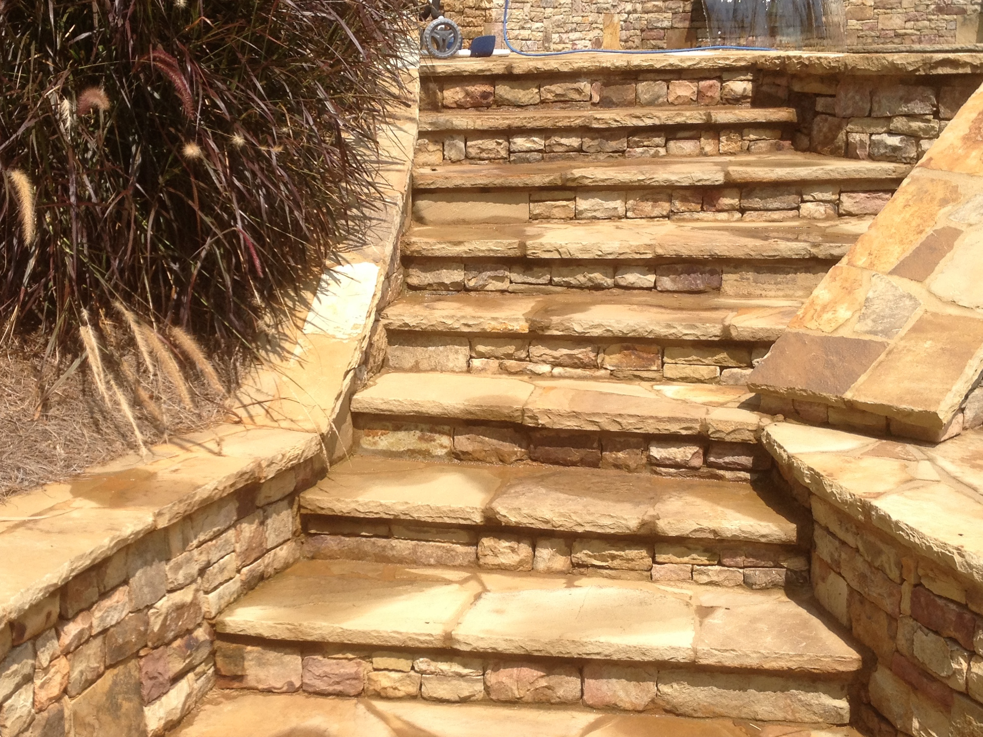 Outdoor Flagstone Steps Flowery Branch Georgia