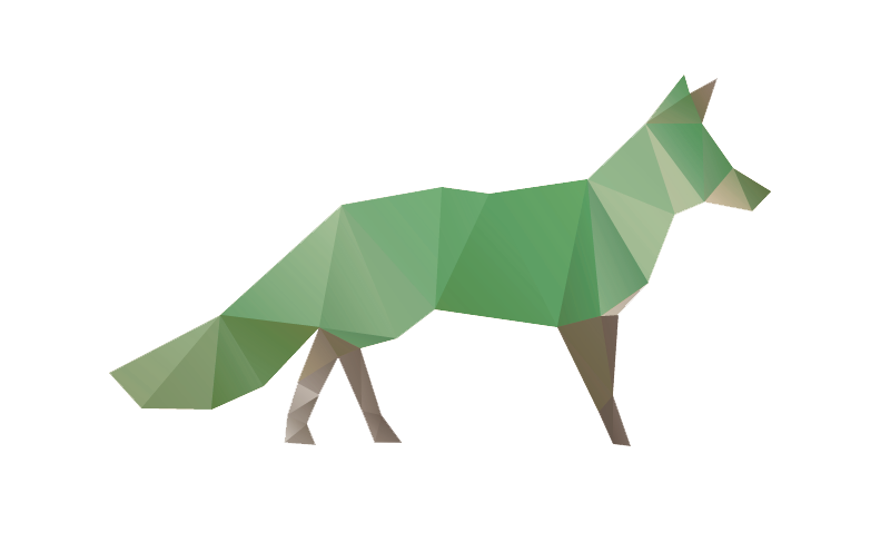 The Quick Green Fox navbar logo