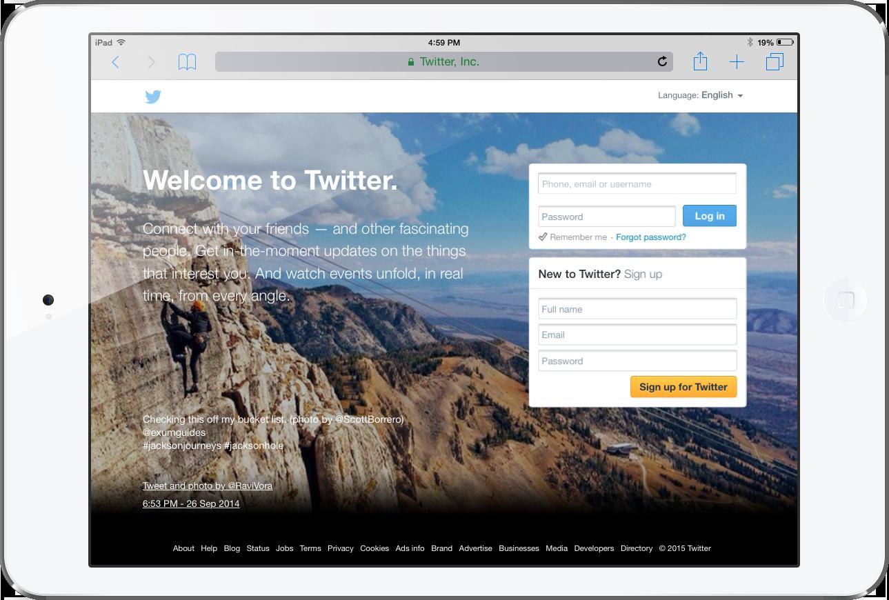 Social Media Plans Twitter ipad
