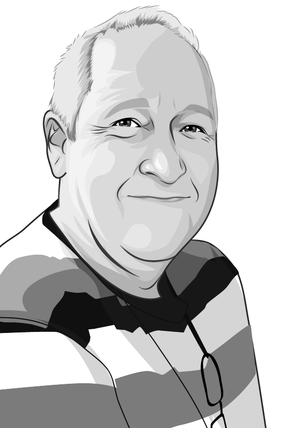 Cartoon of copywriter, John