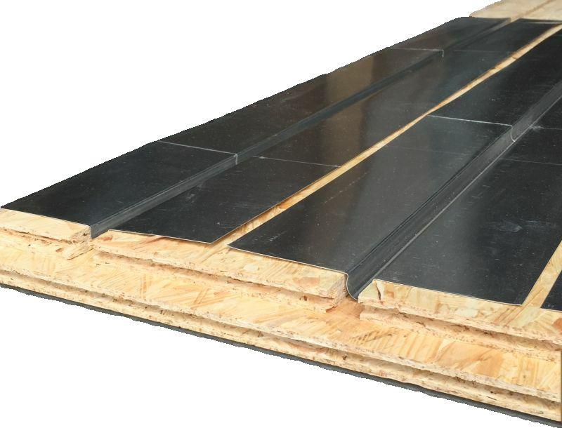 Plancher chauffant sec mince Caleosol  OSB 2 en 1