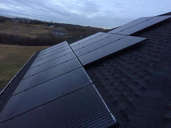 Black Solar Panels Alberta
