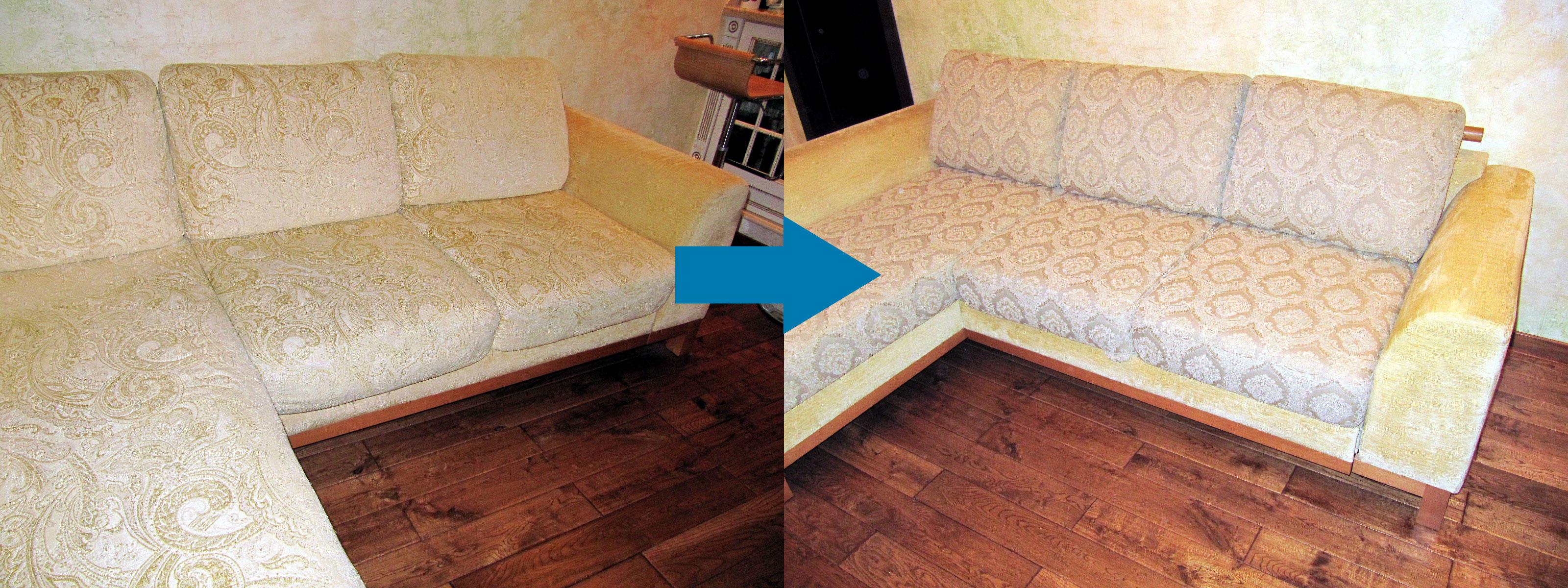 Пример ремонта дивана