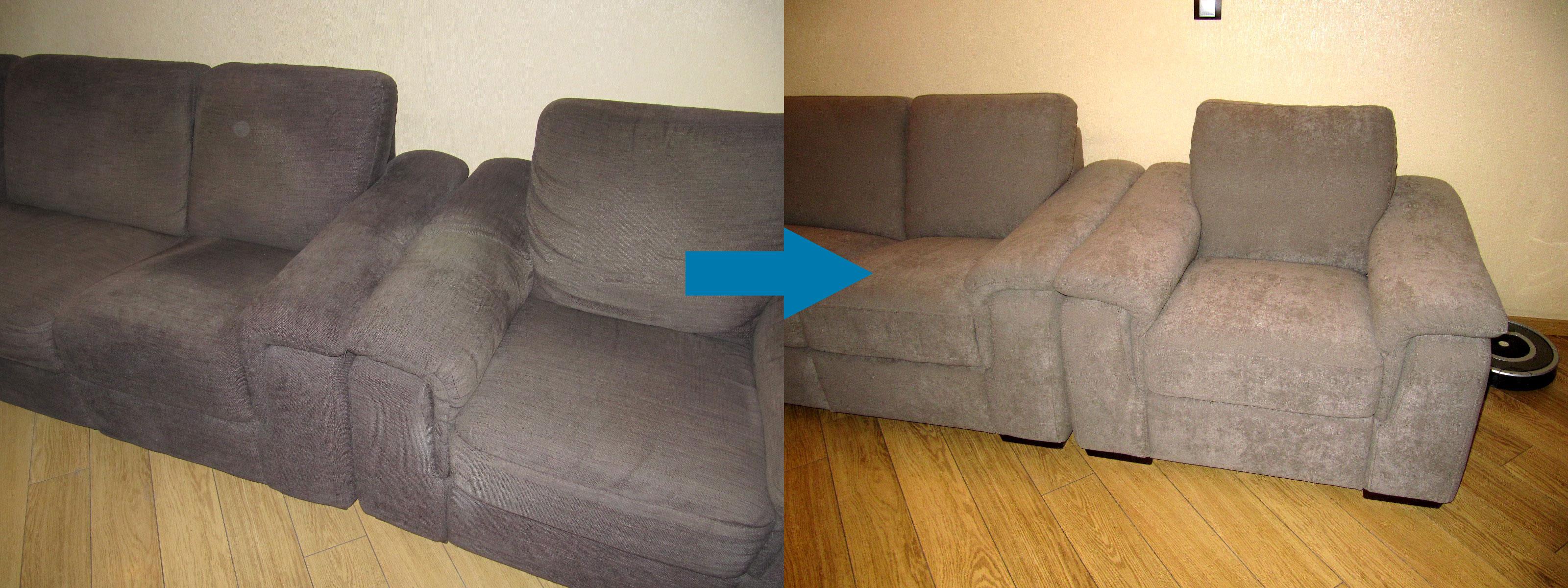Пример перетяжки мягкой мебели