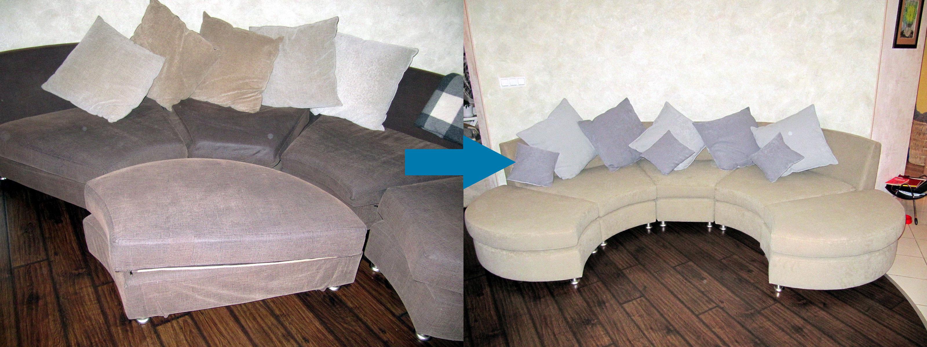 Пример обивки модульной мебели