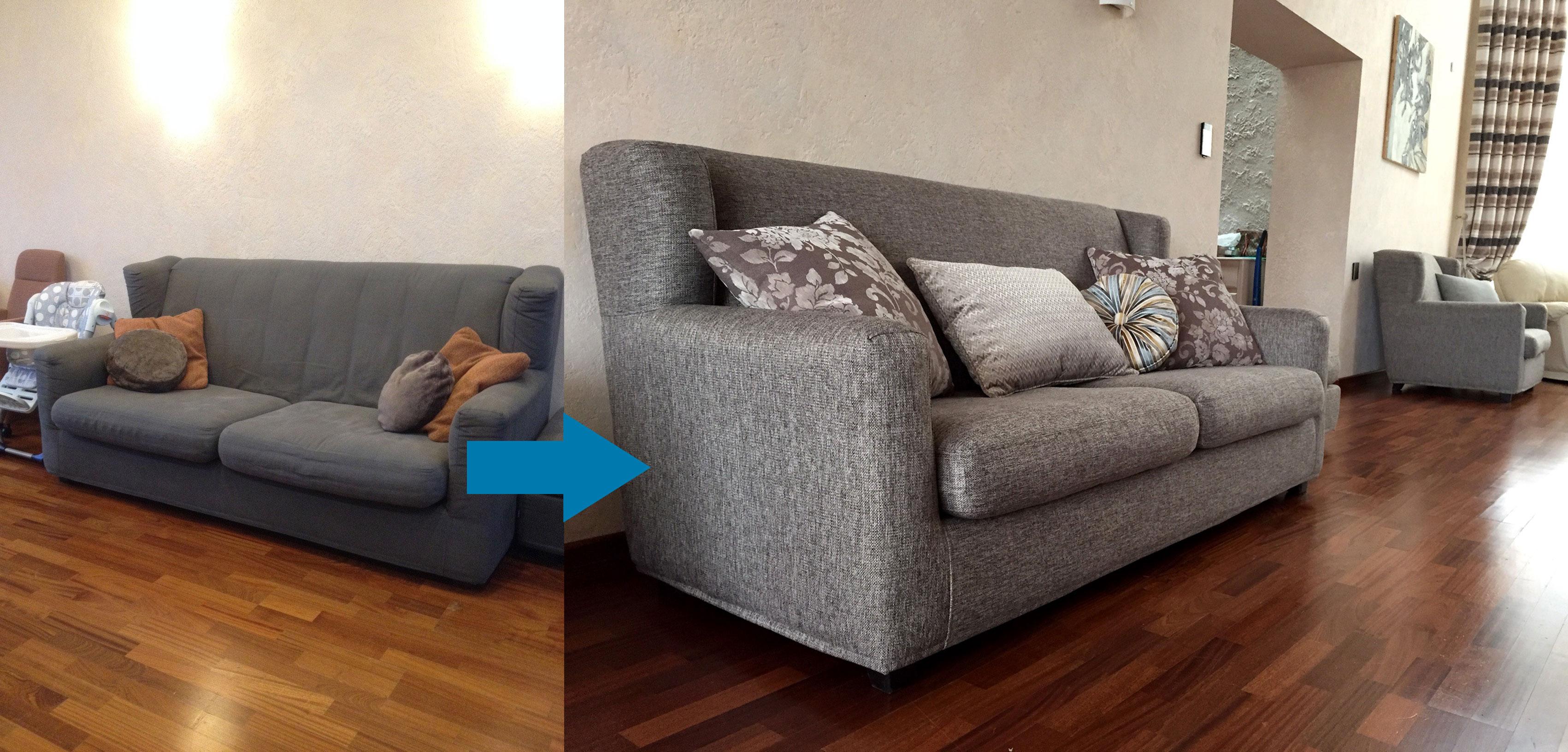 Пример замена обивки мягкой мебели