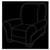 средней пышности мебель