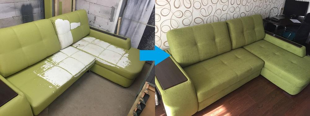 Пример обивки мебели