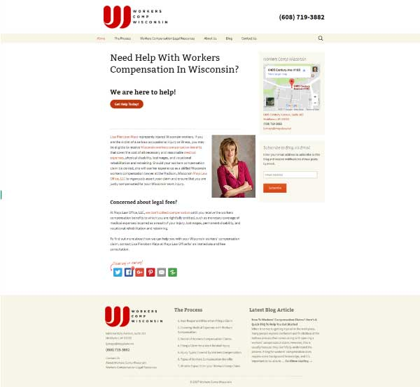 Workers Comp Wisconsin Screenshot