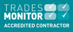 Trades monitor accredited contractor logo