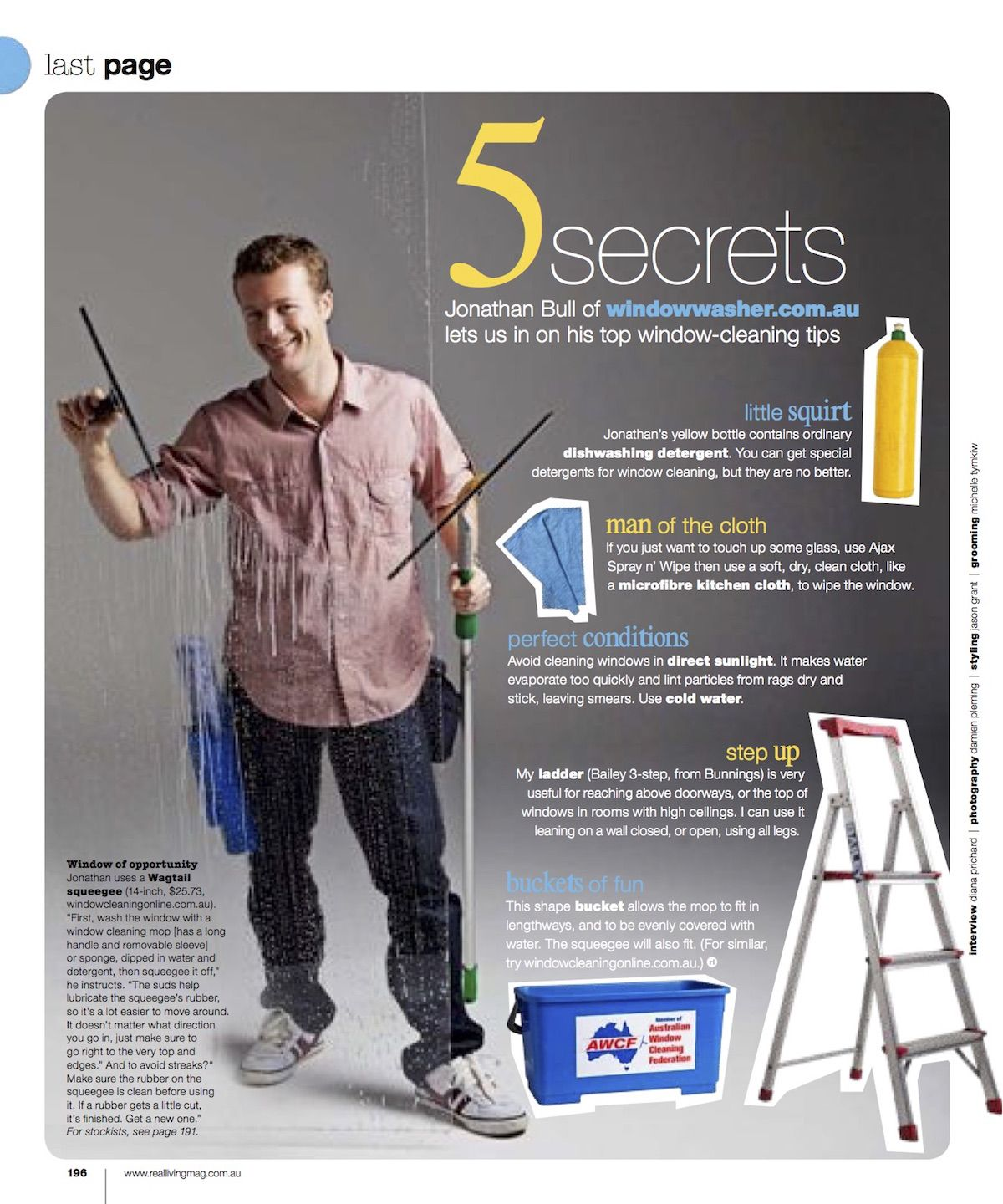 Window cleaning tips article from Real Living