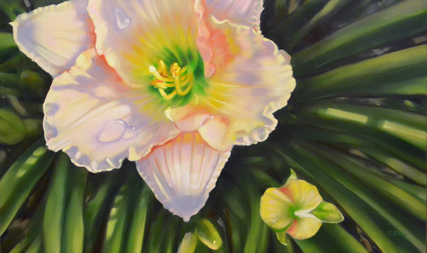 Peace lily painting
