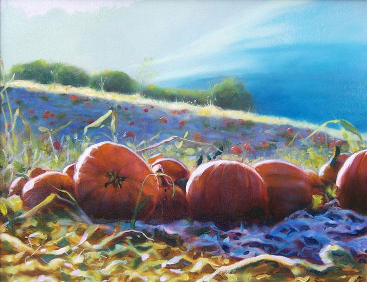 Harvest Field painting