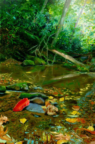 Creek Trail oil painting image