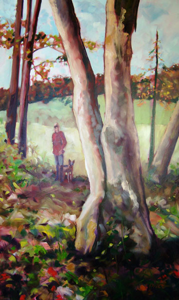 Autumn Walk oil on canvas image