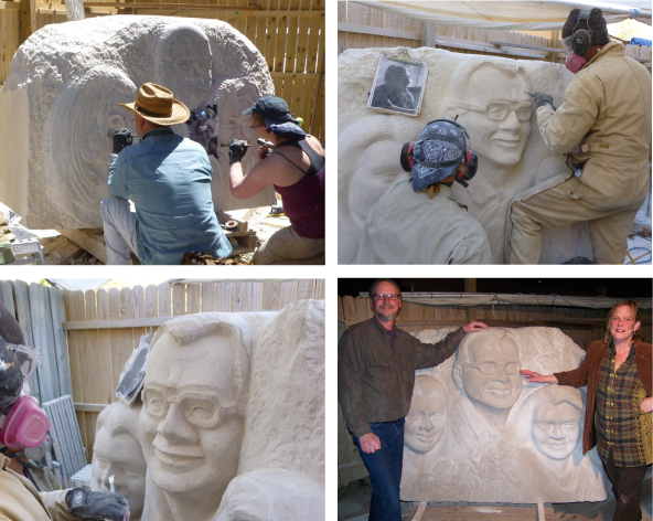 Limestone sculpture image
