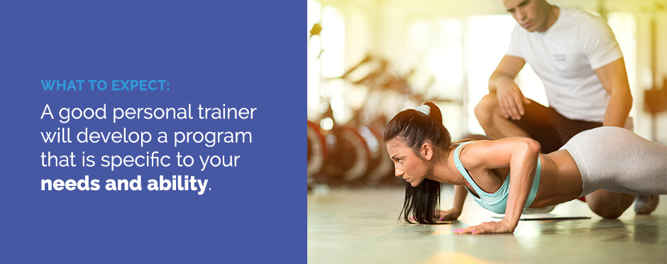 A good trainer will develop a program