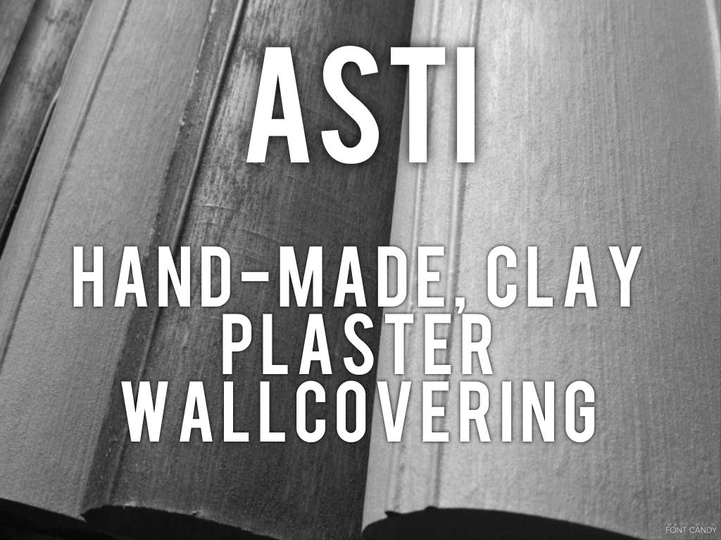 Asti - hand-made clay plaster wallcovering