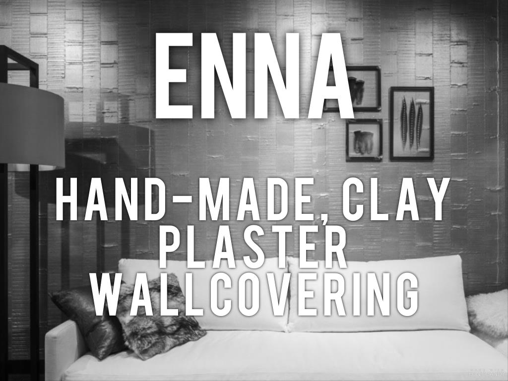 Enna - hand-made clay plaster wallcovering