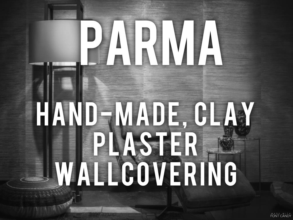 Parma - hand-made clay plaster wallcovering