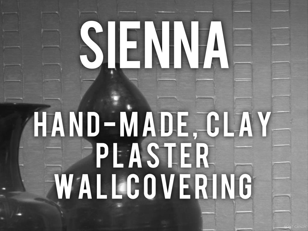 Sienna - hand-made clay plaster wallcovering