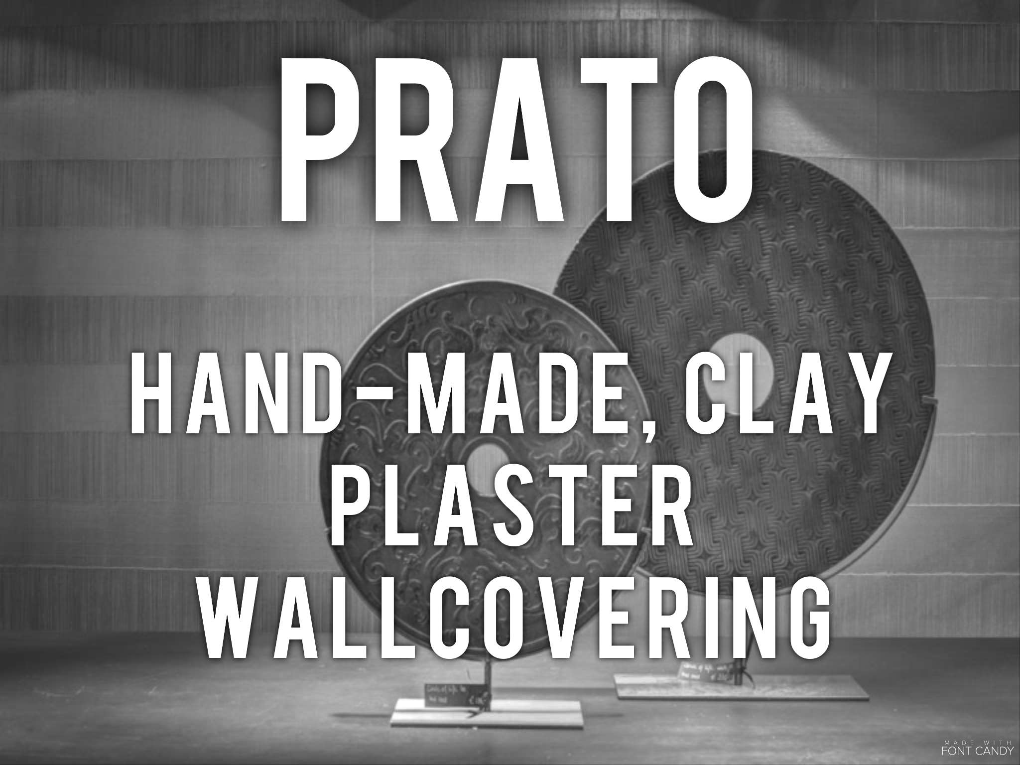 Prato - hand-made clay plaster wallcovering