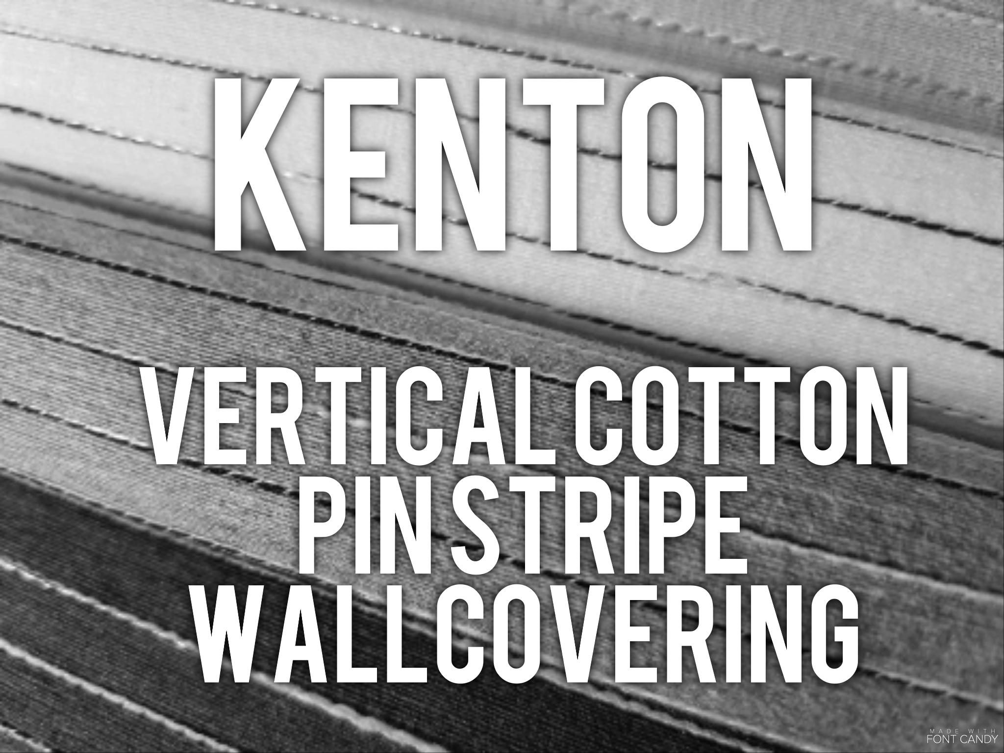 Kenton - Vertical cotton pinstripe wallcovering