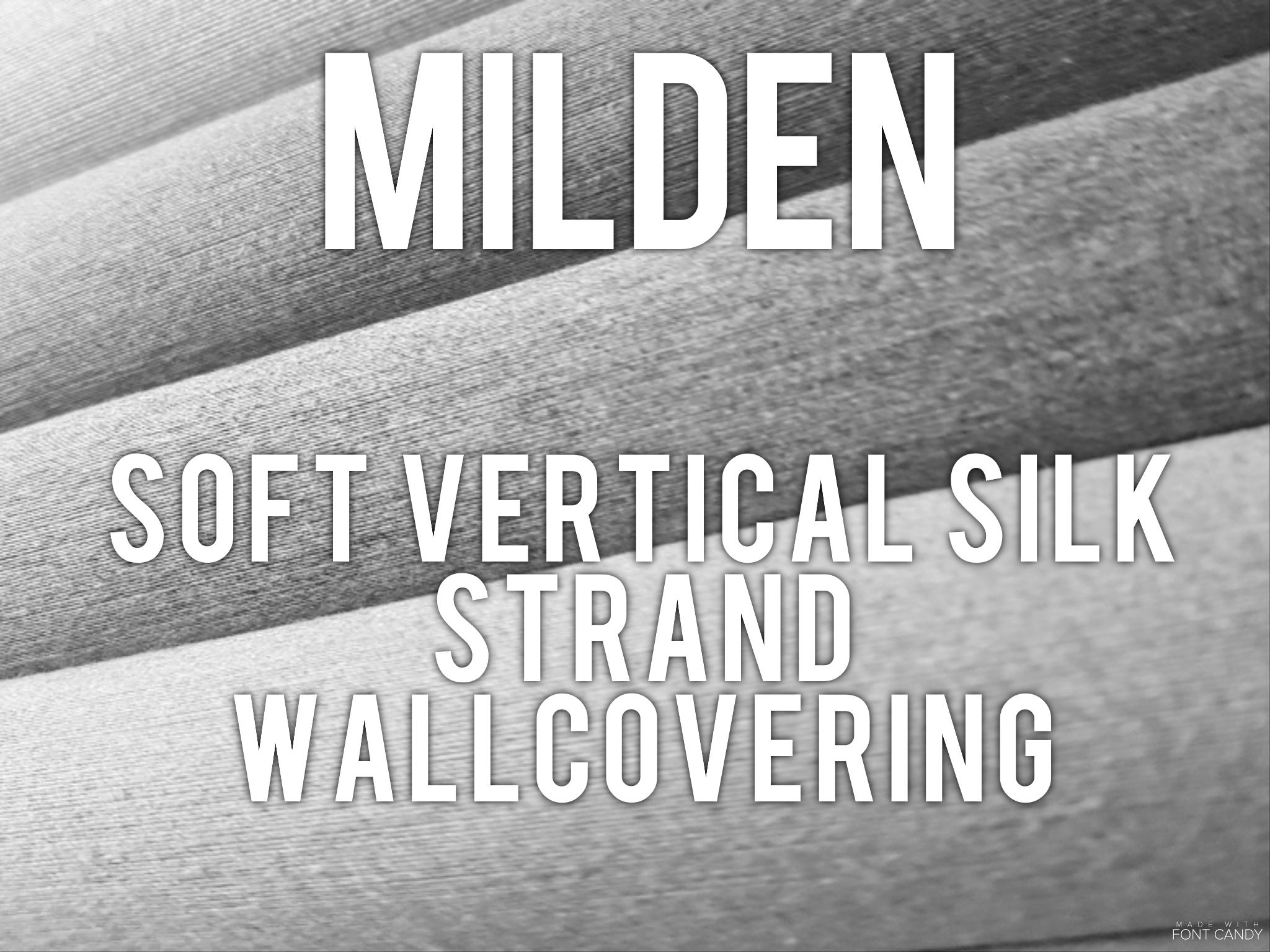 Milden - soft vertical silk strand wallcovering