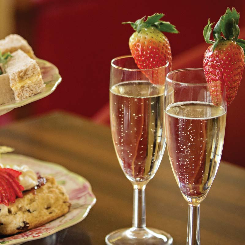 Champagne afternoon tea at the Cliftonville Hotel