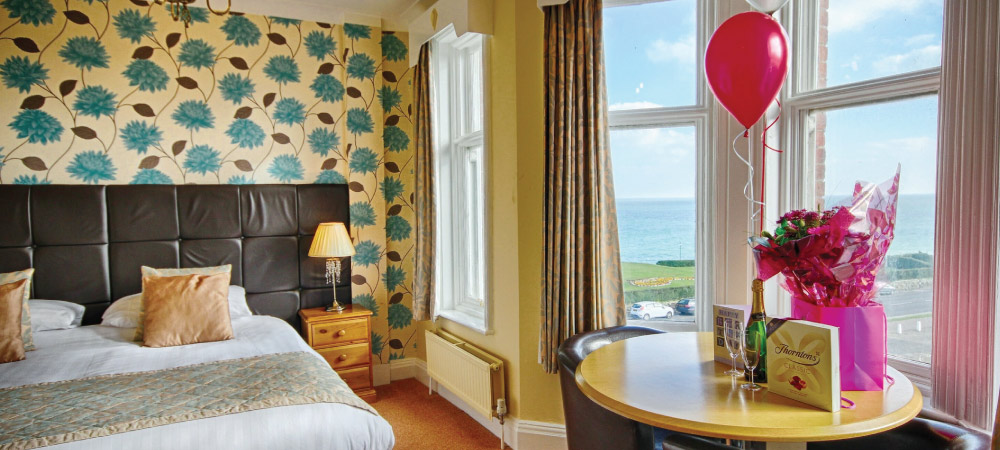Standard room at the Cliftonville Hotel, Cromer, Norfolk