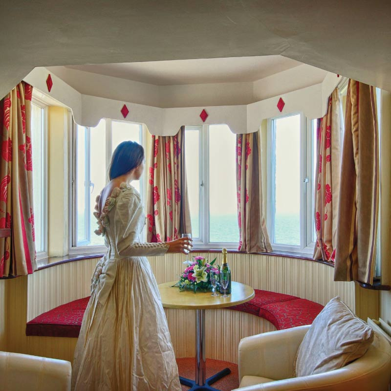Bride at the Cliftonville Hotel, Cromer, Norfolk