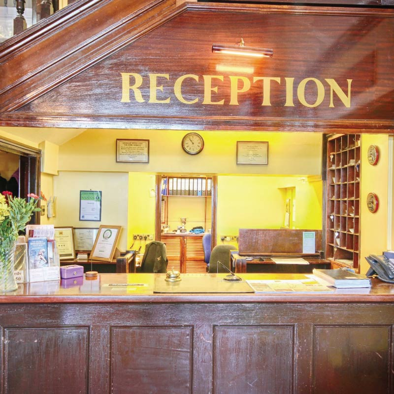 Reception at the Cliftonville Hotel, Cromer, Norfolk