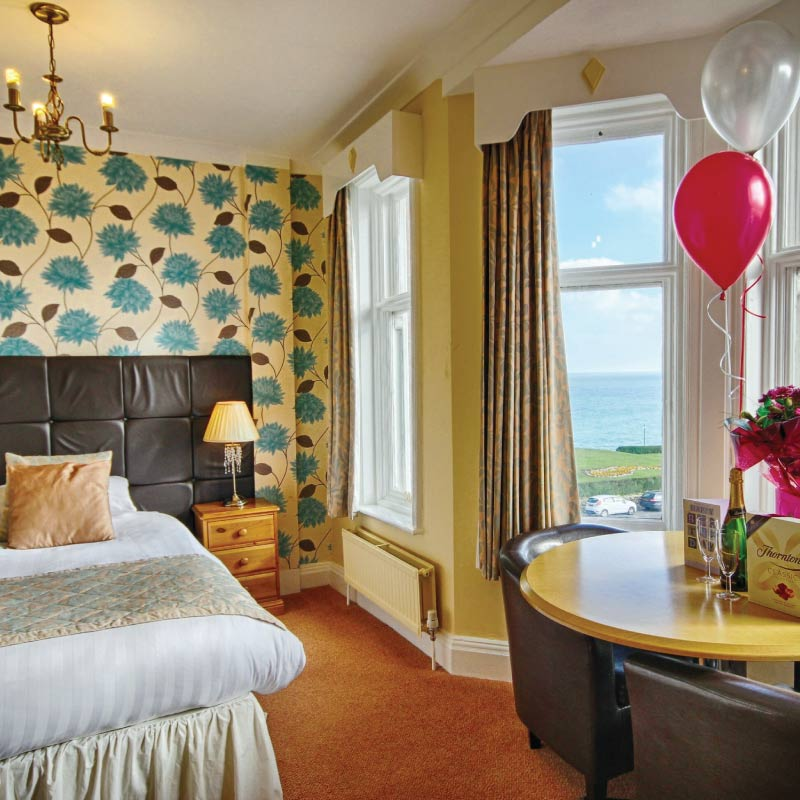 Excellent Seaviews from a room at the Cliftonville Hotel, Cromer, Norfolk