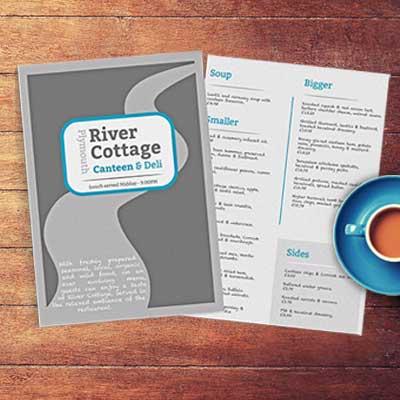 Three color restaurant and pub menu design