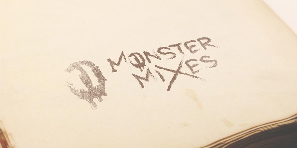E-juice logo mockup for Monster Mixes
