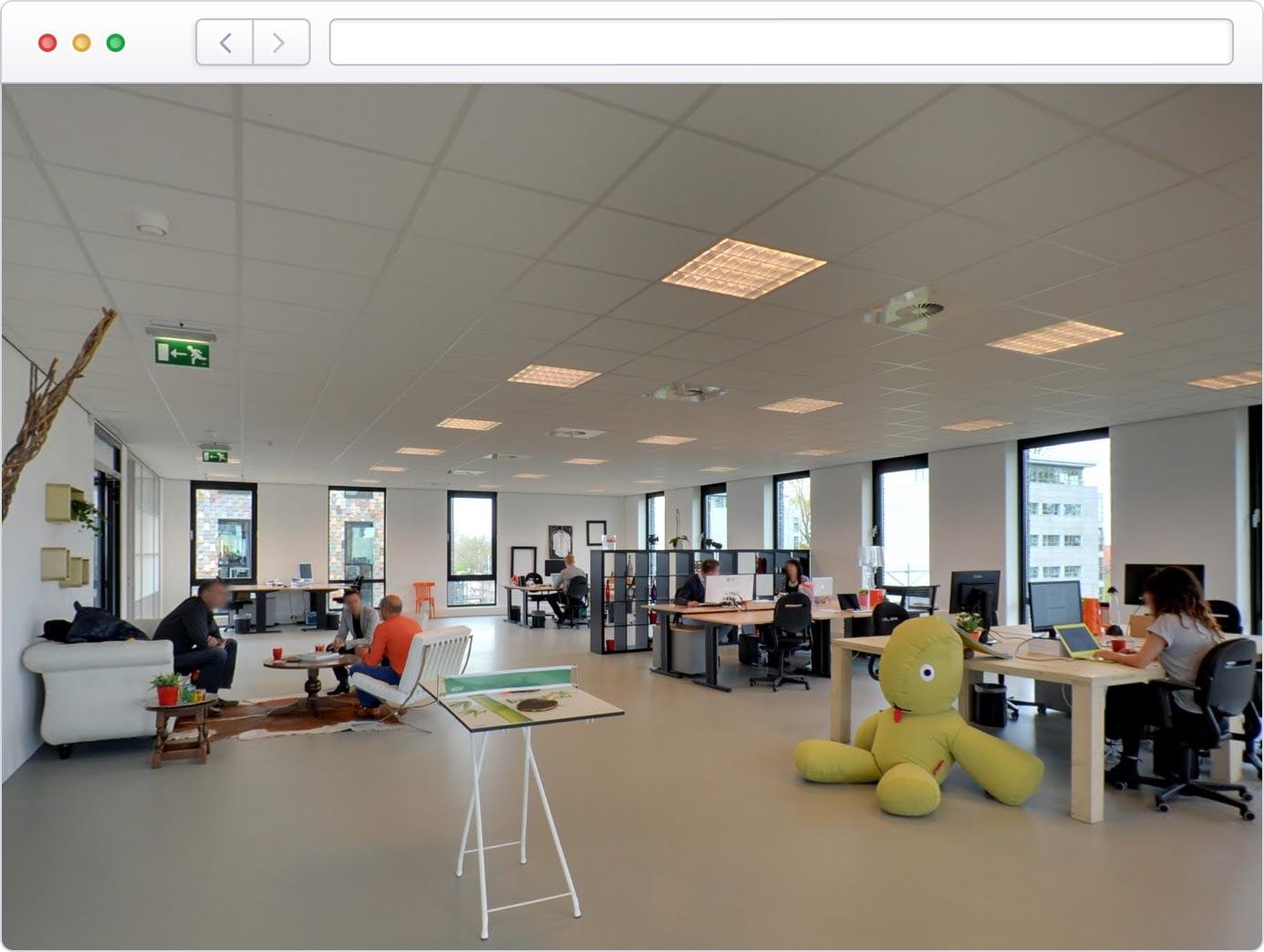 Virtuele tour van uw kantoor op Google