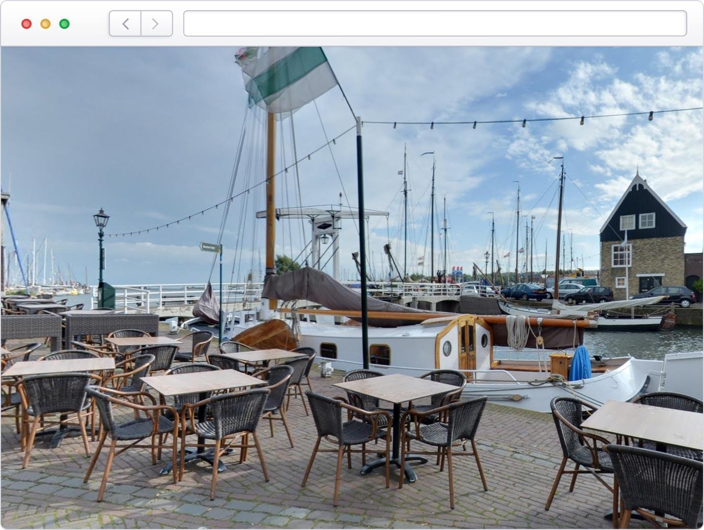 Virtuele tour van uw terras op Google