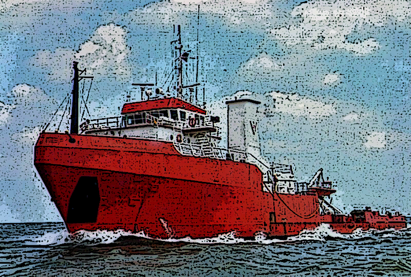 photo of diesel electric anchor handling vessel