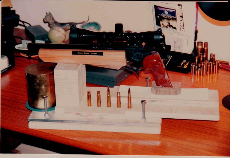 Photo of a 7mm Super Bower Contender pistol