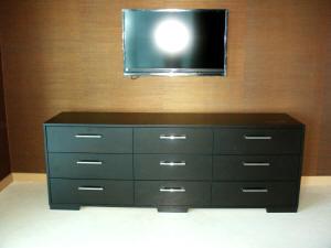 Wenge Veneer 9 Drawer Dresser