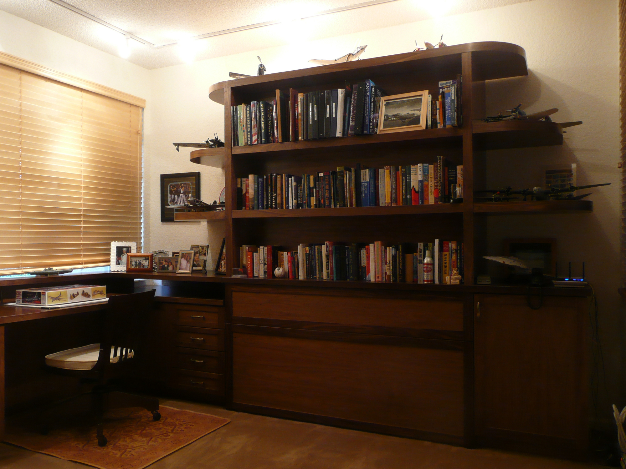 Walnut Zoom Room Guest Room/ Hobby Room