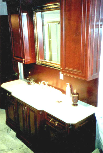 Stained Maple Bath Vanity