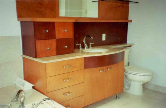 Maple Veneer Modern Bath Vanity
