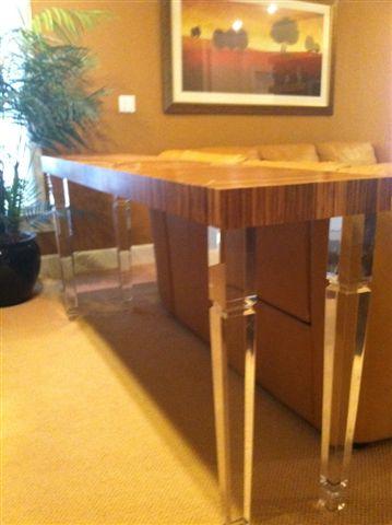 Bamboo/ Acrylic Console Table