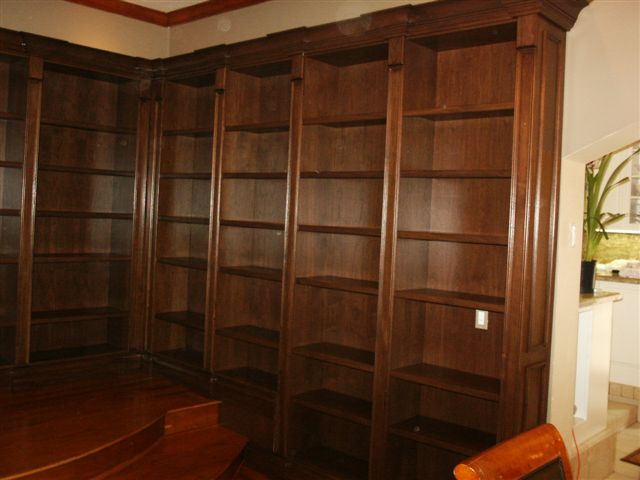 Stained Walnut Library
