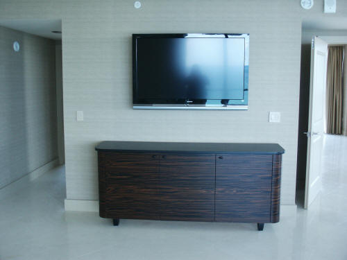Magasscar Ebony and Black Lacquer Media Unit