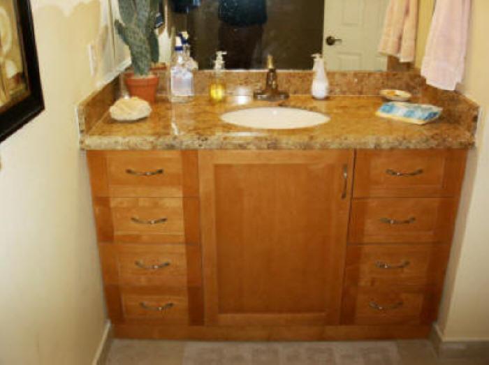 Cherry Shaker Bath Vanities