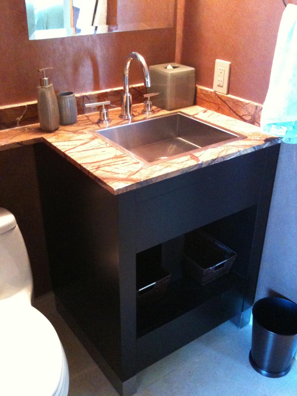 Espresso Rift Cut Oak Bath Vanity