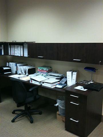 Chocolate Woodgrain Accounting Stations